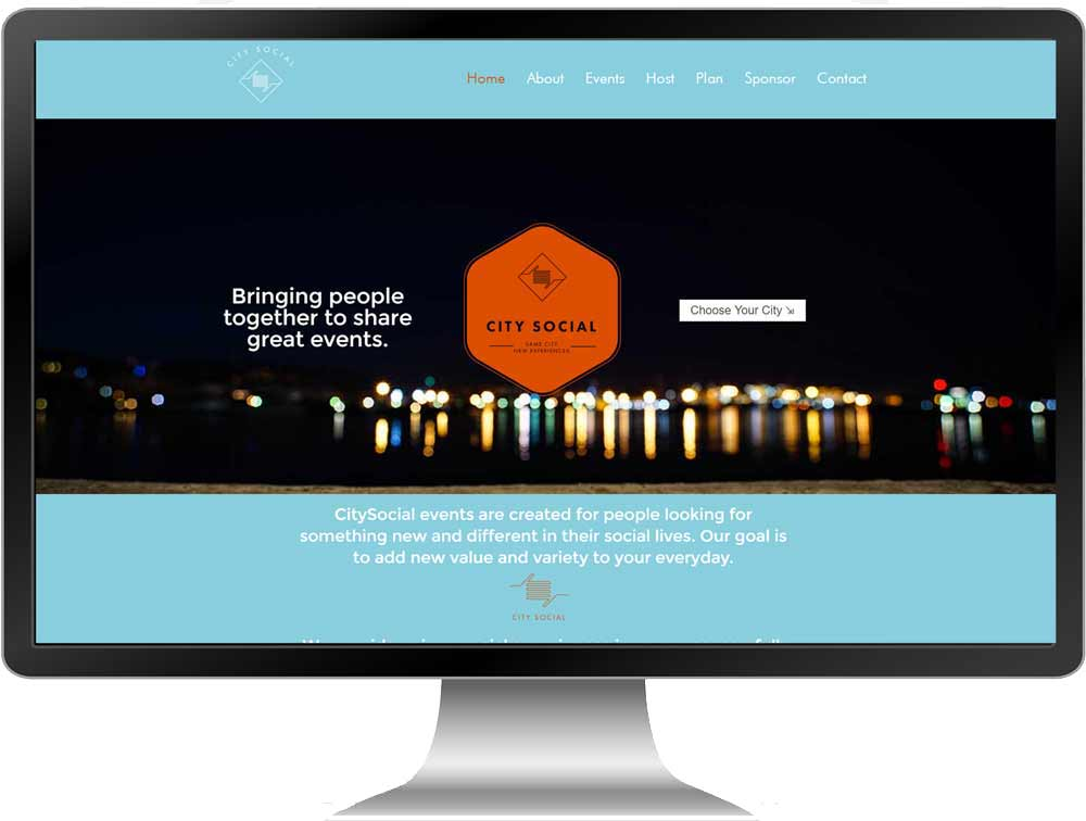 CitySocial Raleigh - Website Design & Branding For event planning company based in Raleigh, NC by The Dibraco Agency