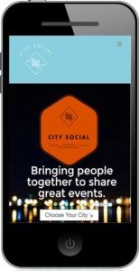 CitySocial Raleigh - Mobile Website Design For event planning company based in Raleigh, NC by The Dibraco Agency